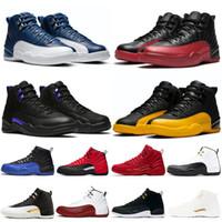 12 농구 신발 남성 인디고 게임 로얄 대학교 골드 12S 망 트레이너 트라이스 흰색 검은 날개 패션 스포츠 스 니커 크기 40-47