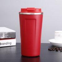 Paslanmaz Çelik Kullanımlık Seyahat 350 ml 500ml Sızdırmaz Ofis Taşınabilir Kahve Kupa 6 N985W