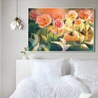 Animali e fiori FAI DA TE Pittura per numeri Kit Modern Wall Art Canvas Figure Pittura per la decorazione della casa1