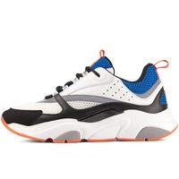 Hot b 22 Lona dos homens e treinadores de pele de bezerros Sapatos de esportes Moda francês Reflexivo Mulheres Sneakers sem caixa! US12 EUR 36-46.