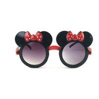 Güneş Gözlüğü Kaharg Sevimli Çocuk Yay Boys Benzersiz Kapaklı Mouse Kulakları Gözlük Çocuk Dışarı Dekorasyon