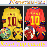 1994 رومانيا هاجي RETRO خمر منزل AWAY تايلاند الجودة لكرة القدم بالقميص الزي الرسمي لكرة القدم البلوزات قميص شعار التطريز camiseta فوتبول