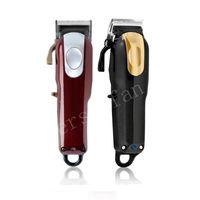 Üst Satıcı 8148 Sihirli Klip Metal Saç Kesme Elektrikli Razor Erkekler Çelik Kafa Tıraş Makinesi Saç Düzeltici Altın Kırmızı ABD Versiyonu