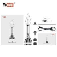 YOCAN FALCON 6-IN-1気化器1000mAh XTLノズルチップQTCコイルワックス電気DABリグ濃縮パンケーキコイルドライハーブキットDHL無料