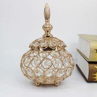 Хрустальный держатель свечи подсвечник ювелирные изделия коробка свадебный центральный стол столовая канделябра для украшения домашней вечеринки T200624