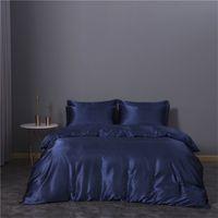 ثلاثة قطعة مجموعة الفراش مجموعات غطاء لحاف الملكة حجم السرير المعزي مجموعات تقليد الحرير الفراش المادة الساخن بيع 74xn3 k2