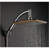 Vendita all'ingrosso-grande quadrato ABS cromato piogge doccia doccia con braccio di estensione set bagno per bagno doccia testa mayitrr ABCWV