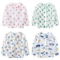 코트 2021 아이들의 옷 소년 소녀 자켓 어린이 후드 지퍼 윈드 브레이커 아기 패션 인쇄 유아 방수 후드 1