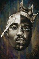 Ünlü B.I.G Biggie Hip Hop Rapçi Sanat Tuval Poster HD Baskı Yağlıboya Duvar Sanatı Boyama Resim Posteri Ev Dekorasyonu