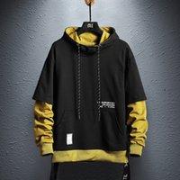 Abril Momo Hoodie sudaderas Hombre Hip Hop Pullover Sudaderas Streetwear Casual Moda Ropa Colorblock Hoodie Algodón 20114