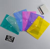 Файл Папка студент экзамен Полки Бумага А4 для документов Файл Сумки с Snap кнопки прозрачный Подача Конверты Пластиковые папки 6 COLOR WY867w