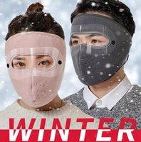 New Polar Fleece Winter-Maske doppelte Schicht im Freien Reiten Warm Schutz Clear Eye Schild Kalten Winddichtes Masken Gesichtsabdeckung LJJP743