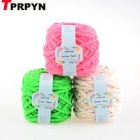 TPRPYN 1шт = 100g 50M Сосулька Polyster ручной вязки Пряжа для вязания крючком пряжи линии нити вязать шарф ручной C1030