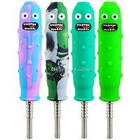 Silikonrohr Nektarsammler Mini-Nektar-Wasserleitungen mit Titan Nagel 14mm Konzentrat DAB-Stroh-Silikon-Rohre