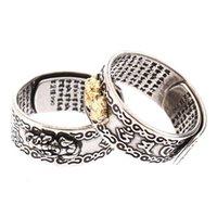 Anillos de racimo Pixiu Charms Ring Feng Shui Wealth Lucky Open Abra Joyería ajustable para mujeres Regalo de los hombres