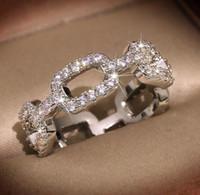 Anéis designer de moda da marca Hot para Jóias Mulheres Brilhante Anel de cristal com CZ Pedra do diamante para o partido