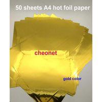 50 fogli 20x29cm A4 Carta a caldo Stampaggio a caldo per laminatore laminato TRASFERE SU ELEGANCE Stampa laser QylppP