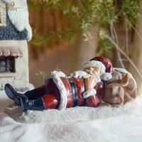 Decorazioni natalizie Collezione di tutti i giorni ornamento decorazione per la casa resina Santa Claus Holiday Tree1