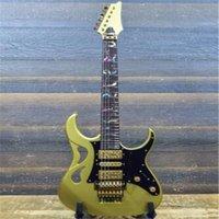 공장 도매 사용자 정의 새로운 arrival 6 문자열 IBZ PIA3761 Steve Vai Signature Sun Dew Gold Electric Guitar 무료 배송