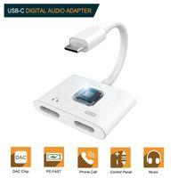 USB Type C a 3.5mm Jack Aduphone Adapter Adattatore Connettore Aux Audio USB-C a USB-C Convertitore di ricarica per Samsung S10 Xiaomi