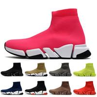 2021 Yeni Hollow Botlar Kadın Lüks Tasarımcılar Çorap Ayakkabı Platformu Rahat Ayakkabılar Trialler Loafer'lar Vintage Çorap Eğitmenler Erkek Bayan Botlar