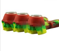 2021 Череп Силиконовая Ручная труба Портативный Сухой Херб Кристаллическая Чаша для Сухой травы Стеклянная Вода Труба Бесплатный DHL DHL