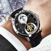 Diseño de Pagani Moda Hombres Mecánica Reloj de lujo Reloj deportivo de lujo Hombres Cuero Tourbillon Automático 100m Impermeable