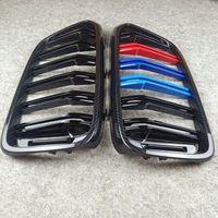 오른쪽 왼쪽 탄소 봐 B-MW 6 시리즈 GT G32 M 컬러 / 광택 검은 ABS 메쉬 그릴 용 자동 자동차 그릴