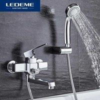 Torneiras de banheira Ledeme torneira clássica banho chuveiro casa de banho montada casa de banho conjunto misturador e água fria único punho L31301
