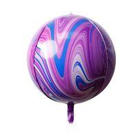 22 inç Mermer Akik Balon Alüminyum Folyo Balon Gökkuşağı Kravat Boya Düğün Bebek Duş Doğum Günü Partisi Paskalya Balonları DDD4263