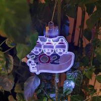 2020 DIY имя пожелания выжившие смола маска педант снеговика елочная елка висит кулон рождественские украшения Dropshipping F10101