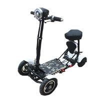 Daibot-Vier-Rad-elektrische Skateboard tragbare elektrische Roller 10-Zoll-36V faltbarer elektrischer Roller für Behinderte / ältere Menschen