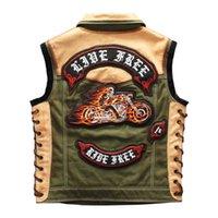 الرجال الشرير جلد طبيعي سترة الابثال قماش خليط دراجة نارية السائق صدرية ماركة أكمام سترة للذكور 201030