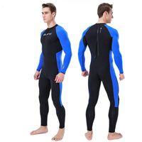 泳ぐダイビングウェットスーツ全身サーフ服長袖スーツ男性水着スポーツスキューバ水着ジャンプスーツ#