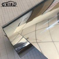 Pet Silver Mirror Window Window Pellicola Isolamento Solar Tint Stickers UV riflettente One way Privacy Decorazione taglia 50x200 / 300 / 500CM1