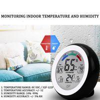 Pantalla LCD digital Termómetro interior Higrómetro Redondo inalámbrico electrónico Temperatura Humedad Meder Estación meteorológica Tester PPF4607