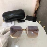 أعلى جودة فرملس أزياء العلامة التجارية مصمم النظارات الشمسية كبيرة الإطار مربع الصيف نمط أنيق مختلط اللون