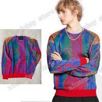 رجل مصممين الملابس هوديي الجاكار لون خطابات سترة الطائر رجل الشتاء معاطف الرجال المصممين البلوزات الرجال s الملابس الملونة 05