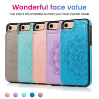 Fashion leather case for iphone 12 mini Embossed mandala wal...