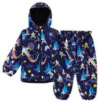 Keaiyouhuo Sport se adapta a los niños conjuntos de ropa para niños para niños Campo de manga larga para niños Trajes para niñas Traje impermeable 2 a 6 y 201126