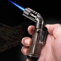 새로운 팔꿈치 투명 팽창 식 라이터 스트레이트 미니 점화 담배 액세서리 도매 YJ23