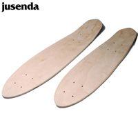 Jusenda Skateboard Deck 24 дюйма Одноместный Рокер Двойной вогнутый Детский Крузер Скутер Скутер Скайт Доска Клен Лондочка Diy Чистая часть