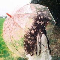 Safebet Sakura прозрачные полуавтоматические дети Apollo Симпатичные зонтики Длинные ручки дождевые зонтики для девочки