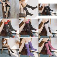 Fashion Girl Woman Socks Lettera Cotton Glitter Socks Calf Socks Hip-Hop Long Tube Calzini sportivi comodi