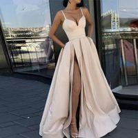 SPAGHETTI NORE LINE PROM Платья выпускного вечера 2019 атласная платье выпускного вечера 2021 новое зимнее вечернее платье невесты