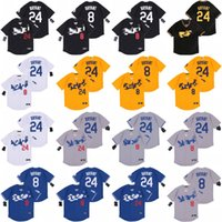 2020 New Los Angeles 8 24 Bryant KB Black Mamba Baseball Jersey cucito Nome cucito Numero cucito Fast StHipping Men Youth Women 06
