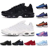 Erkekler Kadınlar için TN Koşu Ayakkabıları Chaussures Üçlü Siyah Beyaz Gerilim Mor Hiper Mavi Deluxe Tenis Erkek Eğitmenler Açık Spor Sneakers