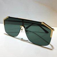 Yarım Çerçeve Kaplama Ayna Objektif Karbon Elyaf Bacaklar Yaz Stili 0291S unisex 2021 VIP tasarım Güneş İçin Erkekler kadınlar moda maske