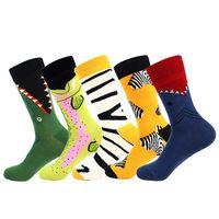Erkek Çorap Yenilik Mutlu Komik Erkekler Grafik Pamuk Ücretsiz Boyutu Kaykay Ekibi Rahat, 1YC16202