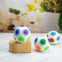 Antistress Cube Rainbow Ball Puzzles Football Magic Cube Educativa Aprendizaje Ejecutivo Juguetes para niños Adultos Niños Estrés Refuerzo Juguetes